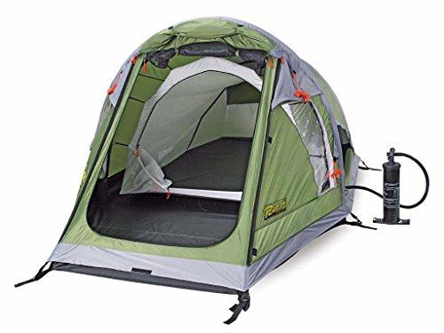 Bertoni tende ready 2 air tenda pneumatica per 2 persone, veloce da montare e smontare, minimo ingombro - col. verde bosco