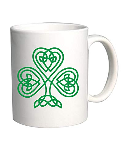 Speed Shirt Tazza 11oz BIANCA TIR0018 Celtic Knot Shamrock