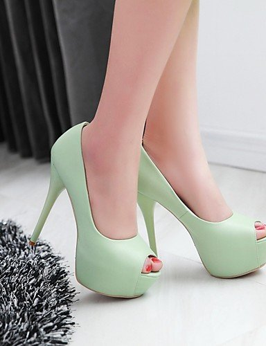 WSS 2016 Chaussures Femme-Bureau & Travail / Habillé / Soirée & Evénement-Bleu / Jaune / Vert / Rouge / Beige-Talon Aiguille-Talons / Bout Ouvert green-us10.5 / eu42 / uk8.5 / cn43