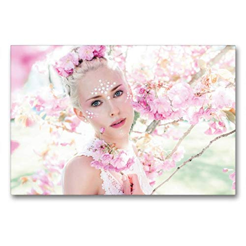 Kostüm Kind Frühlingsfee - Calvendo Premium Textil-Leinwand 90 cm x 60 cm quer, Frühlingsfee | Wandbild, Bild auf Keilrahmen, Fertigbild auf echter Leinwand, Leinwanddruck Menschen Menschen