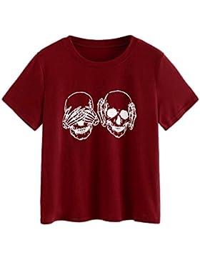 [Sponsorizzato]T shirt Elegante Donna Rcool stampa carina Camicia Manica corta Estate casuale sportivo gilet top Camicetta
