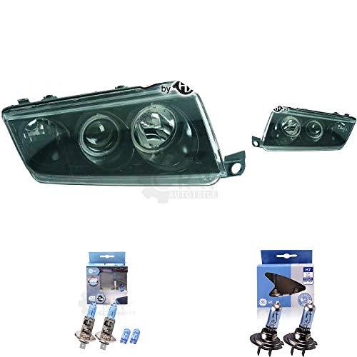 Preisvergleich Produktbild Scheinwerfer Set Fabia I 1 Typ 6Y 99-07 3 / 4 / 5-Türig klarglas / schwarz