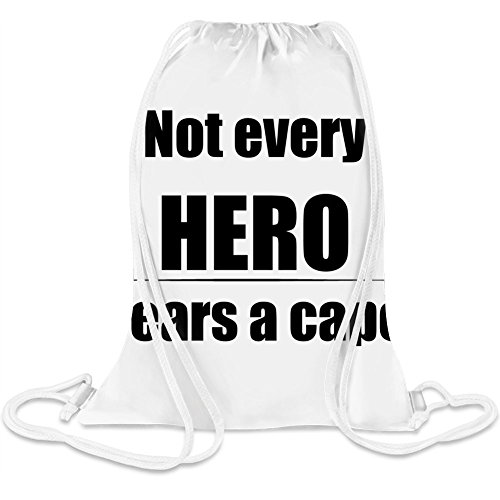 Nicht jeder Held erwirbt Cape - Not Every Hero Wares Cape Custom Printed Drawstring Sack 5 l 100% Soft Polyester A Stylish Bag For Everyday Activities