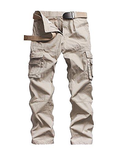 2fe86e9418 Pantaloni Cargo Militari da Uomo Sportivi Casual Trousers con Tasca ...