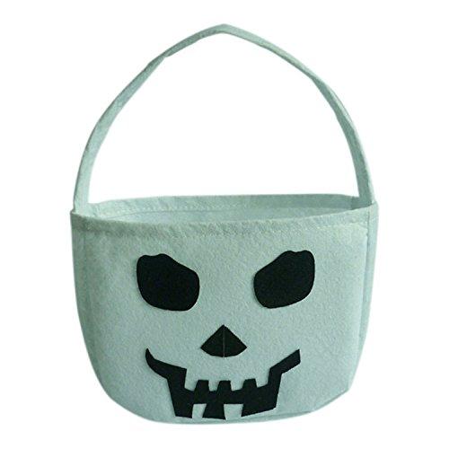 Halloween süßigkeit taschen trick or treat taschen süßes goody süßigkeit geschenk taschen für kinder von yunhigh - weißer ()