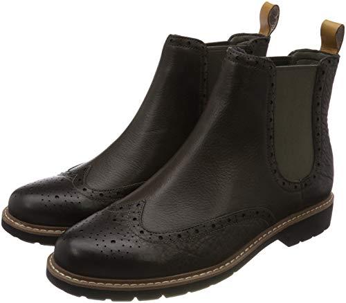 Clarks Herren Batcombe Top Chelsea Boots, Grau (Taupe Leather), 42.5 EU