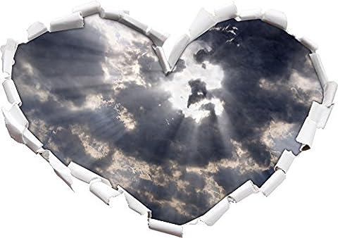 Le visage de Jésus dans la forme de coeur ciel