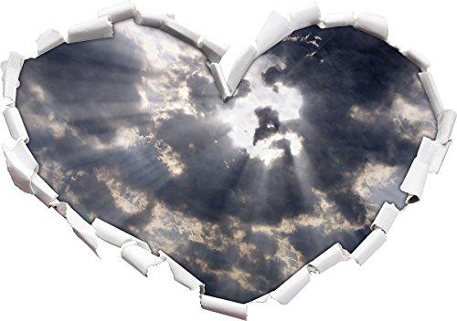 Il volto di Gesù nella forma cielo cuore nel formato sguardo, parete o adesivo porta 3D: 92x64.5cm, autoadesivi della parete, decalcomanie della parete, Wanddekoratio - Celeste Angelo Ornamento