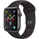 AppleWatch Series4 (GPS+Cellular, 44mm) - Space Grey Aluminium Case with Black Sport Band