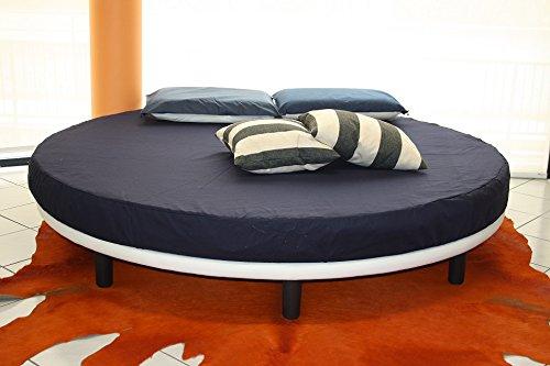 Ponti Divani Rundbett, Matratze guter Qualität Durchmesser 220 cm eingeschlossen! Bezug Stoff Repellent. Produktion MADE IN ITALY!!!