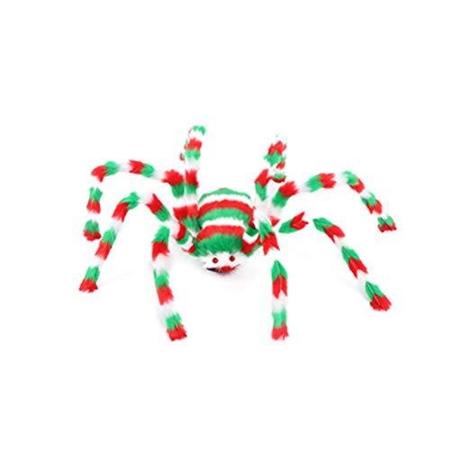 Spinnenschmuck Mehrfarbig Groß Halloween-Spinne im Freien Halloween-Dekorationen Haarige bewegliche Spinne Scary Prop für Hof Spukhaus Party-Dekor - Hunde Im Spider Kostüm