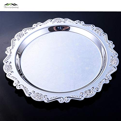Uniqus Silver Dessert Plates Cake Dish Cupcake Cake Stand Plate Fruits Tray Elegant Pallet Decoration Wedding Party Dishes Plates 09901 - Revolving-cupcake