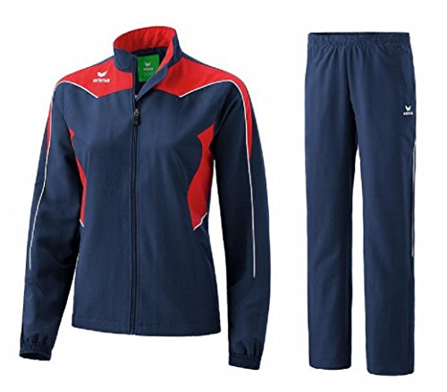 Erima Shooter Trainingsanzug Damen Präsentationsanzug Jogger Jogginganzug (38, New Navy/Red/White)
