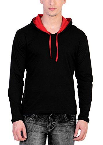 Katso Men's Cotton Hooded T-Shirt (Multicolor, Medium)