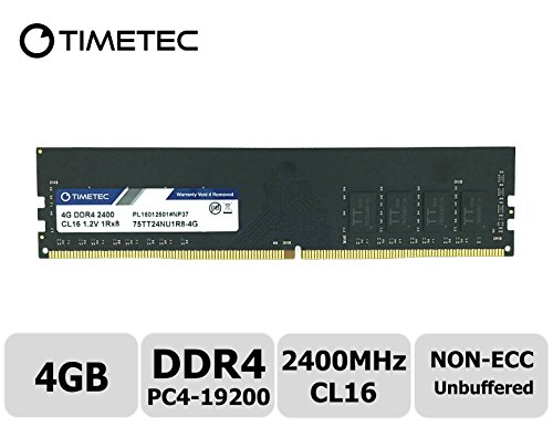 Price comparison product image Timetec Hynix IC DDR4 2400MHz PC4-19200 Unbuffered Non-ECC 1.2V CL17 1Rx8 Single Rank 288 Pin UDIMM Desktop PC Computer Memory Ram Module Upgrade (4GB)