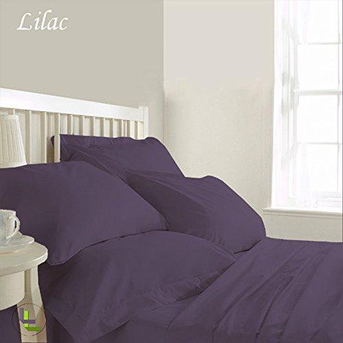 he Baumwolle elegant Finish 6Wasserbett Bettlaken-Set massiv (Pocket Größe: 76,2cm), baumwolle, Lilac Solid, UK_Super_King (Monster High Clearance)