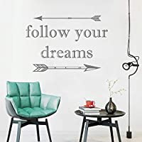 Handaxian Follow Your Dreams Decal Arrows Quote Wall Vinyl Sticker Tribal Theme Kids Room Art Nursery Decor Baby Shower Wall Decals 42 * 61cm