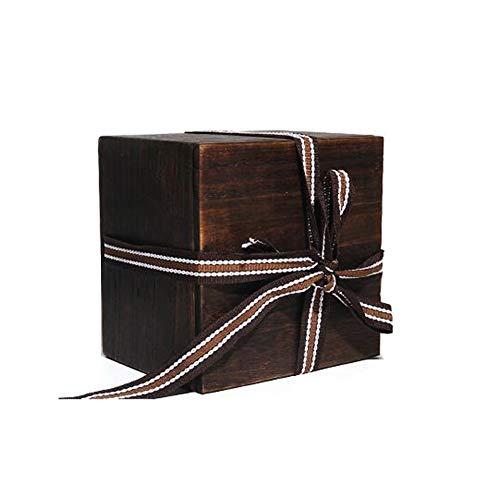 Nwzw urna funeraria adulto scrigno cineraria in animale domestico legno solida urna cineraria in legno,adatto per l'ufficio o la sepoltura,16cm*16cm