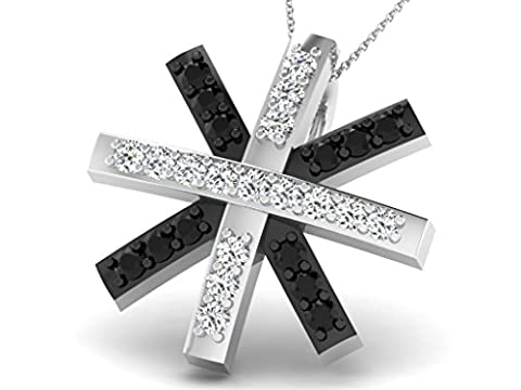14 Ct White Gold star Shaped Diamond Necklace, 0.12 ct diamond, GH-SI, 0.61 grammes.