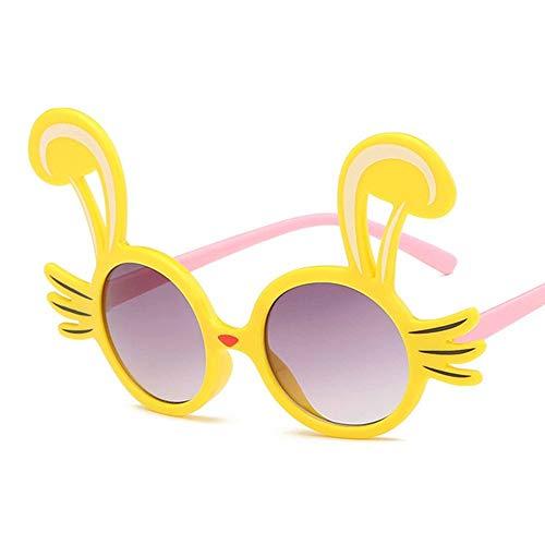 MoHHoM Sonnenbrillen Für Kinder,Niedliche Kaninchen Form Flexible Kinder Sonnenbrille Polarisierte Kind Baby Sicherheit Beschichtung Sonnenbrille Uv400 Brillen Farben Kleinkind Gelb