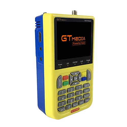 Docooler GTMEDIA V8 TV Signal Finder Satellitenfinder Messinstrument DVB-S / S2 HD Digital-Messinstrument 3.5 Zoll LCD Dispaly 3000mAh Batterie