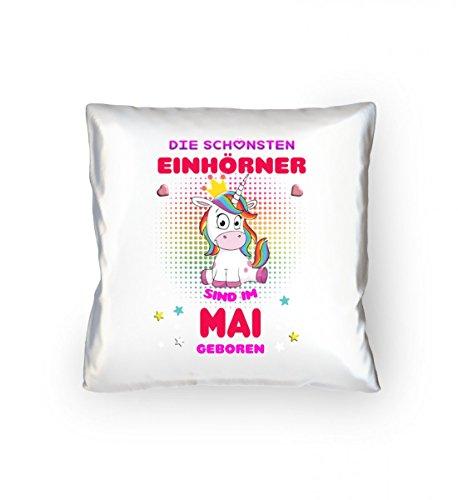Hochwertiges Kopfkissen 40x40cm - Mai Einhorn T-Shirt