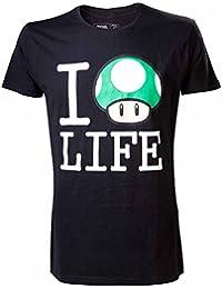 8619e23a9e0 Official Super Mario I Mushroom Life T-Shirt