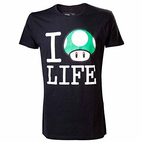 Preisvergleich Produktbild Nintendo T-Shirt -S- I love Life, schwarz