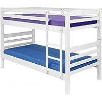 Litera lacada blanco mate con dos camas de 90 x 190 sin cajón - Muebles de Dormitorio precios