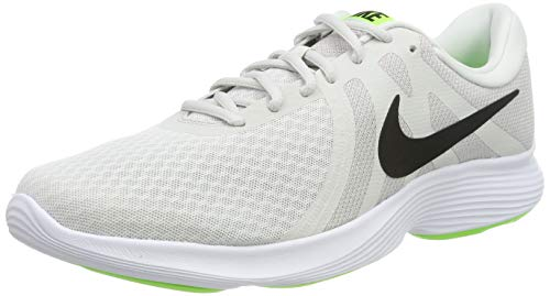 Nike Revolution 4 EU, Scarpe da Running Uomo, Grigio (Platinum Tint/Black/Electric Green/Atmosphere Grey/White 005), 42
