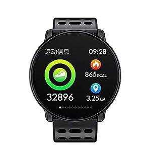 Chenang Gehärtetes Glas Bildschirm Smartwatch, Unisex Schlafmonitor und Fitness-Tracker Fitness Uhr mit Herzfrequenzmessung zur Herzfrequenz-und Fitnessaufzeichnung