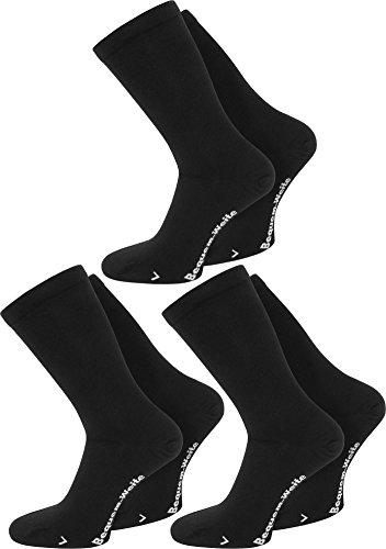 2 Paar spezielle Komfort-Socken für sogenannte Wasserbeine bzw.Elefantenfüße,Schwarz,47/50 (Männer Weite Extra Socken Für)