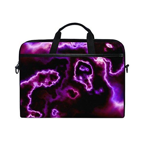 Ahomy 38,1-15,4 Zoll Laptop Tasche Halloween abstrakte Wolke Canvas Stoff Laptop Tasche Bussiness Handtasche mit Schultergurt für Damen und Herren