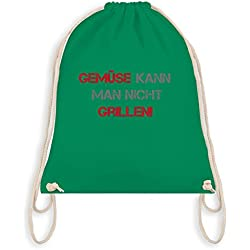 Sprüche - Gemüse kann man nicht grillen - Unisize - Grün - WM110 - Turnbeutel & Gym Bag
