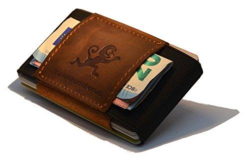 Damen Crazy Horse (Premium Slim Wallet & Kartenetui mit Geldklammer - Crazy Horse Rindsleder – Mini Portemonnaie für Herren & Damen - Kleine Geldbörse, minimalistischer Geldbeutel)