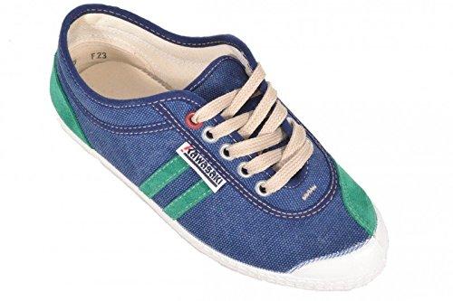 23 Kawasaki retrò Stitch navy/Green/strisce WSX18A Sneaker Schuhe, Blu (blu), 37 EU