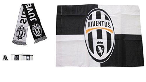 Bandera de Juventus Oficial 120x 90cm + Bufanda Oficial JUVENTUS F.C 2016scarp Juve Jaquard tamaños 140x 20cm aprox.
