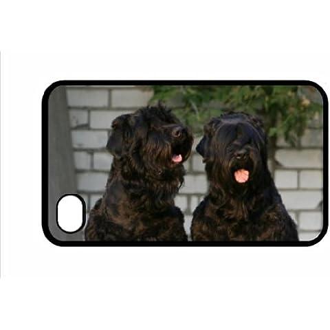 Negro ruso Terrier perro iPhone 4/4S negro cubierta 32