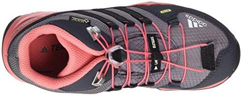 adidas Terrex Mid Gtx K, Scarpe da Arrampicata Basse Unisex-Bambini Grigio (Trace Grey/core Black/tactile Pink)