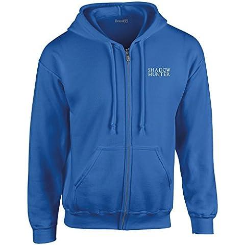 Shadow Hunter, Heavy Blend™ Full Zip Hooded Sweatshirt - Royal/White S (34-36