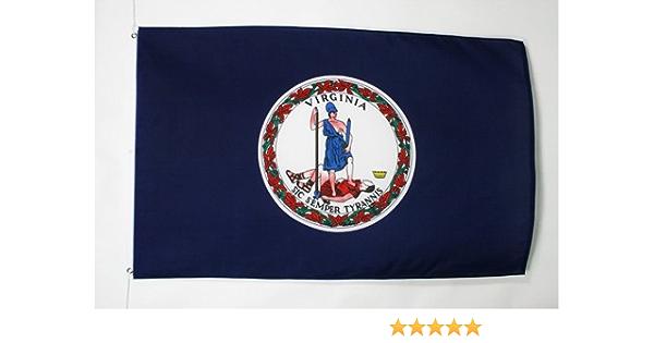 AZ FLAG Drapeau Virginie 90x60cm Etats-Unis 60 x 90 cm Sp/écial Ext/érieur USA Drapeaux Drapeau Etat am/éricain