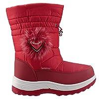 Akınalbella 1055.130 Kırmızı Fermuarlı Kız Çocuk Kar Bot Ayakkabı