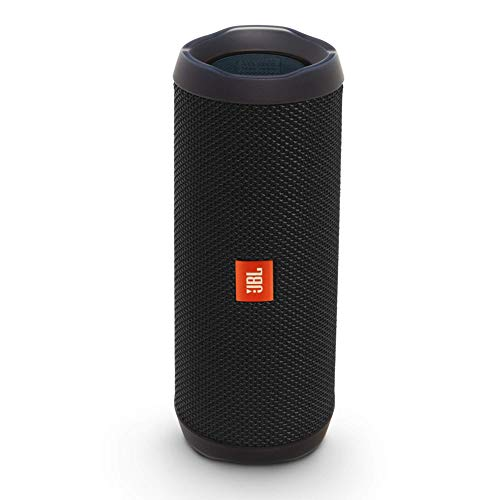 JBL Flip 4 Portable Bluetooth Speaker with Rechargeable Battery, Waterproof, Siri and Google Compatible - Black