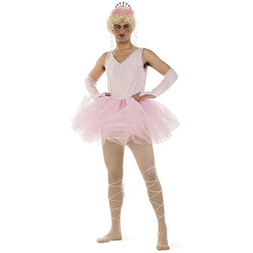 Ballett-Tänzer Tutu Party Fun Kostüm Herren perfekt für Junggesellenabschied 5-tlg. Rock Body Fußbänder Armstulpen Diadem - (Ballett Männer Kostüm)