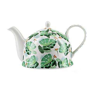 """Théière Igloo Jameson & Tailor/Théière de""""Jungle"""" / Cafetière en porcelaine brillante de 1200 ml/Convient aux lave-vaisselle et micro-ondes"""