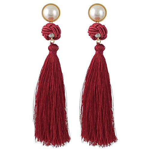 Olydmsky Damen Ohrringe Ohrringe Böhmische handgewebte fließen Sur dekoriert Länge ca. 13,5 cm -