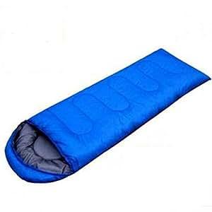 IRIS Sleeping Bag Envelop 3 Season Ultra Light Portable Waterproof Comfort for Camping, Backpack & Outdoor (Blue)