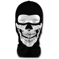 WINDMASK - Cagoule Biker Ski Snowboard Masque - visage de crâne II