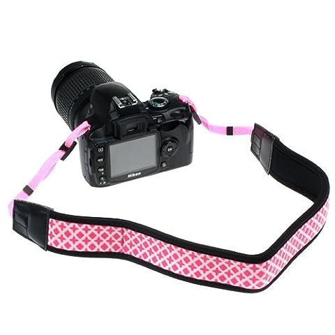 Kameragurt, BIRUGEAR Universal Neopren Rutschfest Kamera Camcorder Schultergurt / Trageriemen für DSLR, SLR, Digitalkamera, Systemkamera - Pink Diamant