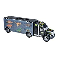 Dinosaur Transport Carrier Truck Toy,Mini Dinosaur Kids Educational Toys Truck Toy with 6 Mini Plastic Dinosaurs Educational Dinosaur Truck Toy for Kids ages 3-8 yr old